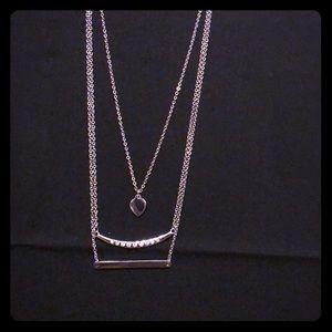 Jewelry - NWOT ~  3-Tiered Silver & Swarovski Necklace